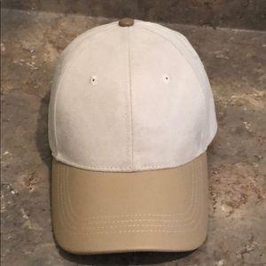 Michael Stars Faux Suede/Leather Cap